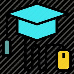 college, degree, online, university icon