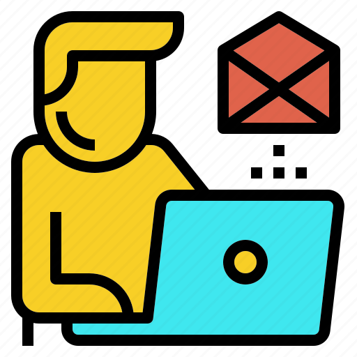 email, employee, online, tech, work icon