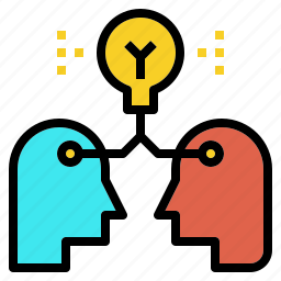 brainstorm, idea, knowledge, sharing, thinking icon