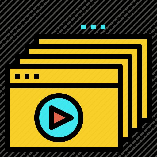 clip, course, online, tutorial, video icon