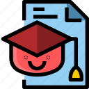 education, file, learning, online, school icon