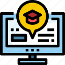 computer, education, learning, online, school, technology icon