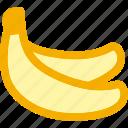 banana, diet, fruits, potassium, tropical icon
