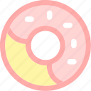 dessert, donut, food, sprinkles, strawberry, sweets icon