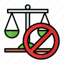 law, legality, ban, break, broken, justice, prohibition icon