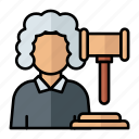 judge, your honor, justice, law, hammer, legality icon