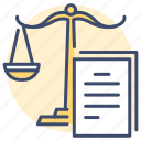 document, law, legal, preparation, subpoena, warrant, obligations icon