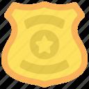 police, badge, shield, uniform