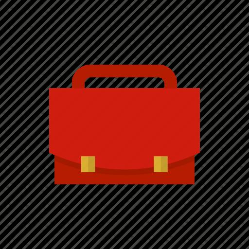 attache case, briefcase, case, law icon