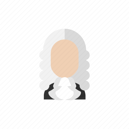 judge, law, lawyer, legal, man, wig icon