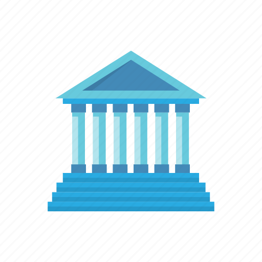 bank, building, court, facade, investment, law, legal icon