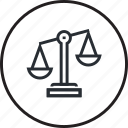 administrative, justice, law, lawyer, legal, line icon