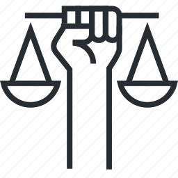 civil, law, lawyer, line, litigation, rights, thin icon