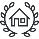 building, construction, estate, law, lawyer, real, thin line icon