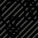 intellectual, property, idea, lock, locked, light, bulb