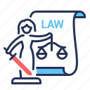 articles, justice, law, scales icon