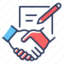 agreement, contract, document, signing icon