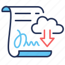 documents, sample, download, templates icon
