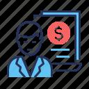 invoice, specialist, cost catalogue, document icon