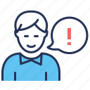 advice, exclamation, legal, speech bubble icon