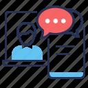 advisor, lawyer, online consultation, smartphone icon