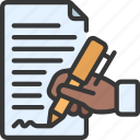 sign, contract, signed, paper, file, pen, contracts