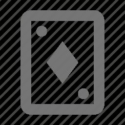 card, diamonds icon