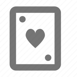 card, hearts icon