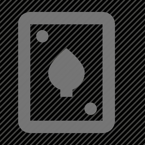 card, entertainment, fun, game, play, poker, spades icon