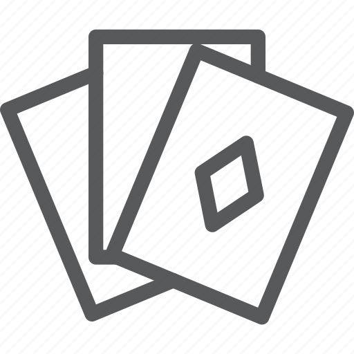 cards, entertainment, free time, fun, gamble, leisure, playing, poker icon