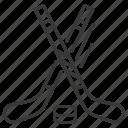 bandy, hockey, hockey sticks, puck icon