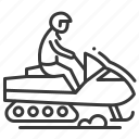 activity, male, snow racer, winter icon