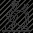 cardio, exercycle, female, sport icon