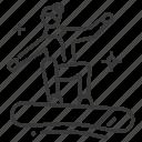 person, snowboarding, sport, winter icon