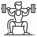 barbell, male, weightlifting, squat