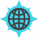 compass, direction, earth, gps, map, navigation, world icon