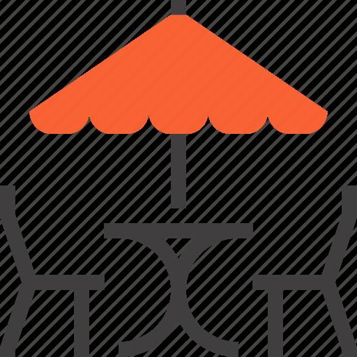 bar, cafe, chair, leisure, restaurant, summer, umbrella icon