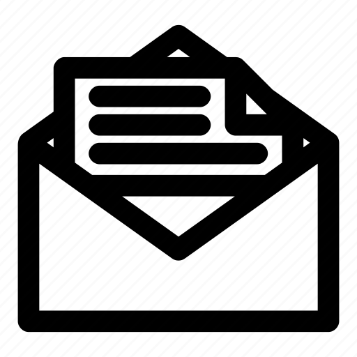 document, email, envelope, letter, mail icon