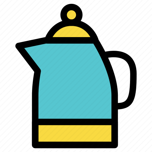 coffee, cook, drink, kettle, kitchen, tea, water icon