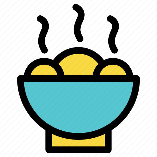 bowl, cook, dessert, dish, food, kitchen, meatball icon