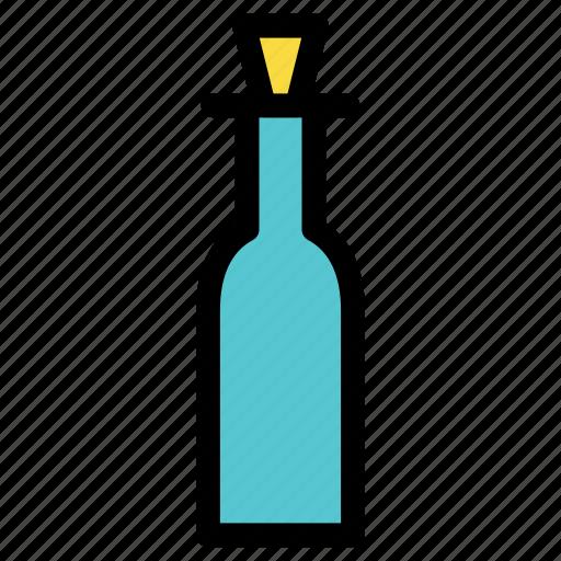 beverage, bottle, cook, cork, ketchup, kitchen, wine icon
