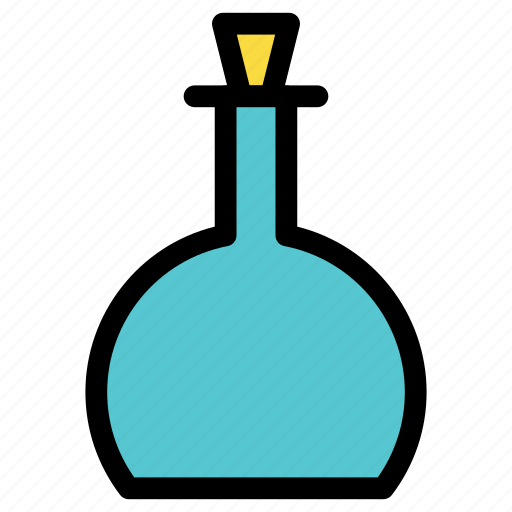 alcohol, beverage, bottle, kitchen, potion, utensil, wine icon