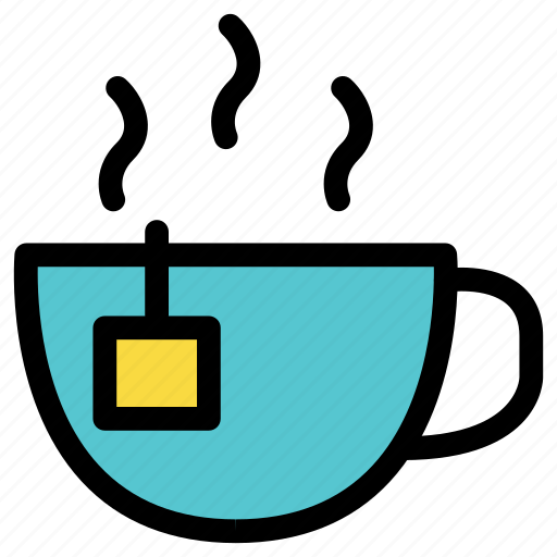 beverage, breakfast, cup, drink, glass, hot, tea icon