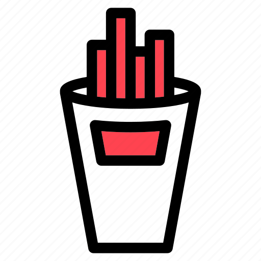 fast food, food, french fries, junk food icon