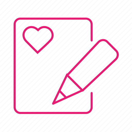 date, heart, letter, love, mail, post, valentines icon
