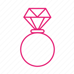 diamond, engaged, jewellery, love, married, ring, valentines icon