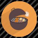 barbecue, barbeque, cooking, grill, potato, restaurant, smoke icon