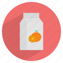 beverage, carton, drink, fruit, orange juice, packaged, pulp icon