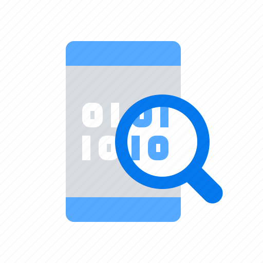 audit, mobile, search icon