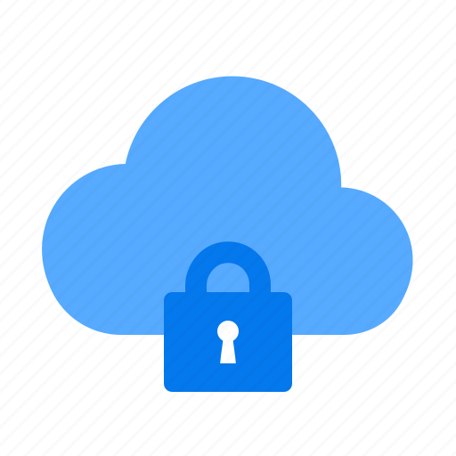 cloud, lock, secure icon